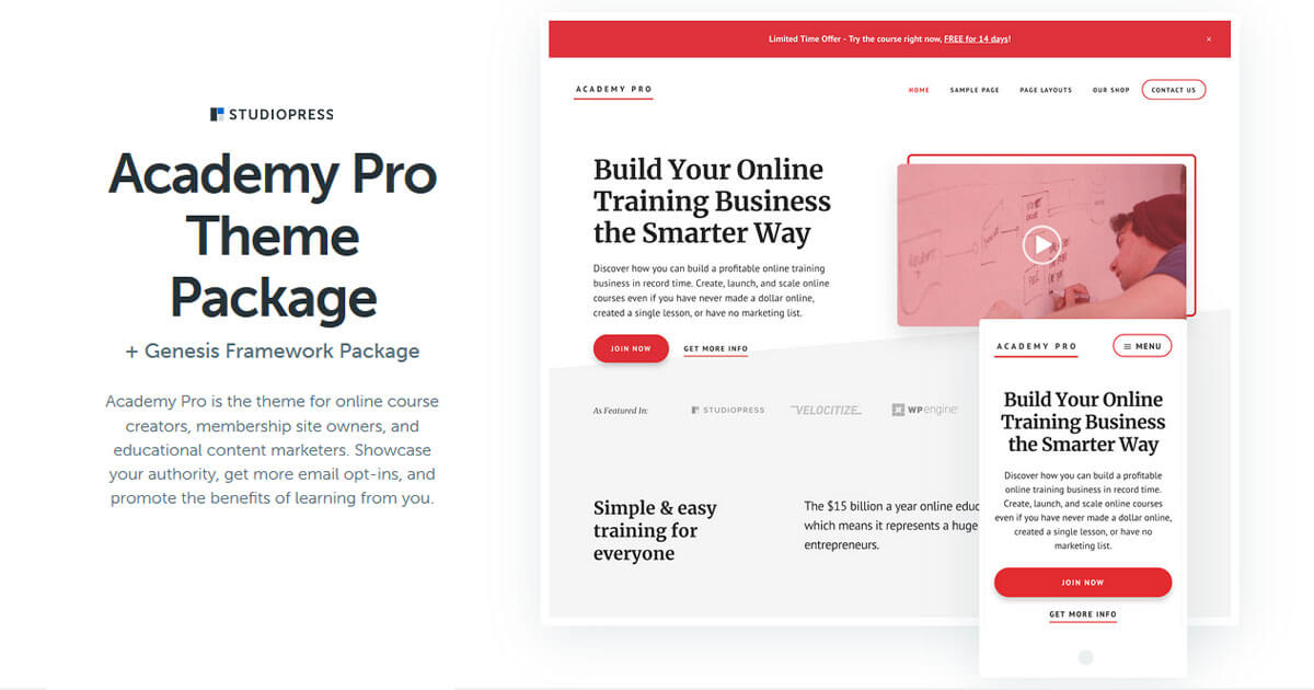 Academy Pro Theme Download