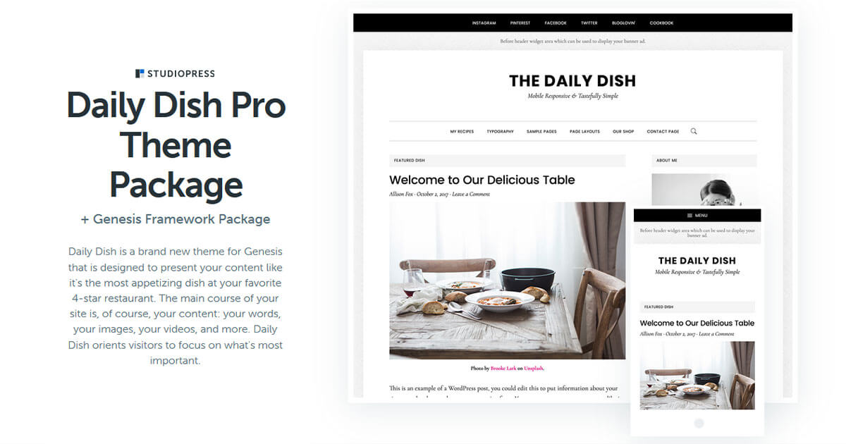 Daily Dish Pro Theme Download