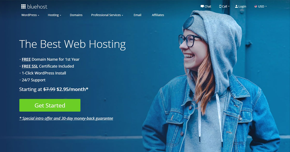 bluehost - Top 5 Best Website Hosting Companies