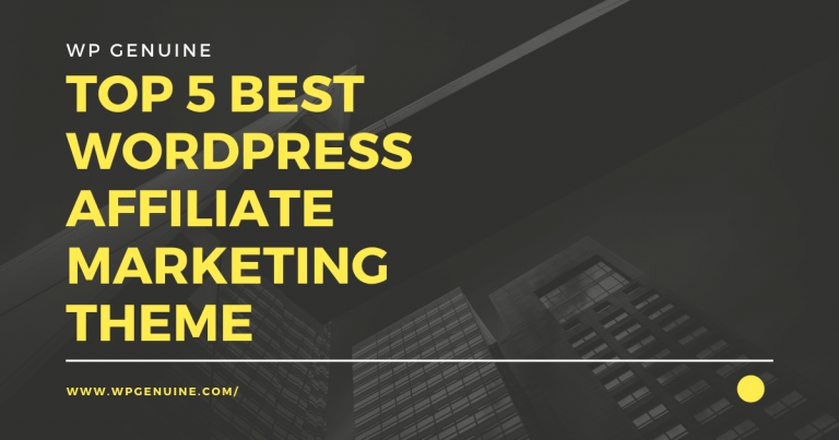 Top 5 Best AFFILIATE marketing theme