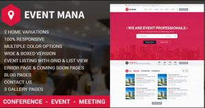 Event Management WordPress Theme Nulled Free Download-WpGenuine