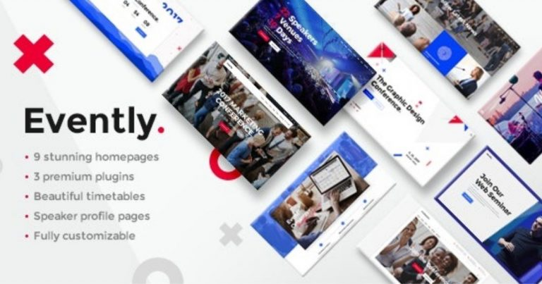 Evently - Conference & Meetup Wordpredss Theme Nulled Free Download-WpGenuine