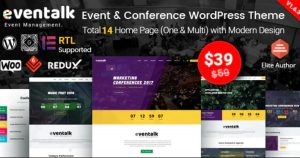 EvnTalk - Event Conference WordPress Theme Nulled Free Download-WpGenuine