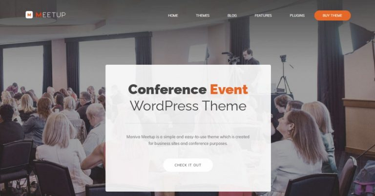 Meetup - Conference Event WordPress Theme Nulled Free Download-WpGenuine