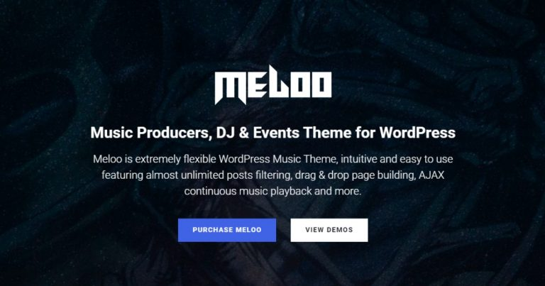 Meloo - Music Producers, DJ & Events Theme for WordPress Free Download-WpGenuine