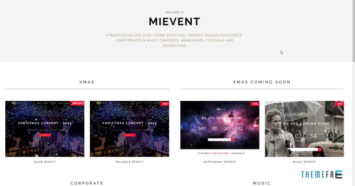MiEvent - Responsive Event & Music WordPress Theme Nulled Free Download-WpGenuine