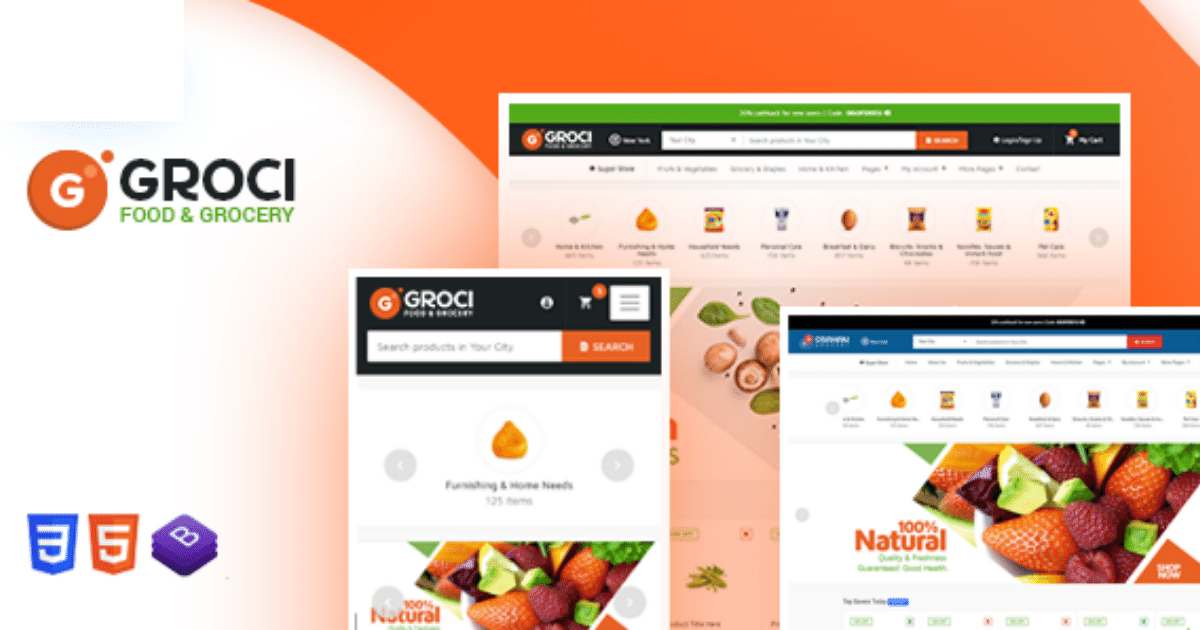 Groci Wordpress Theme Nulled-WPGenuine