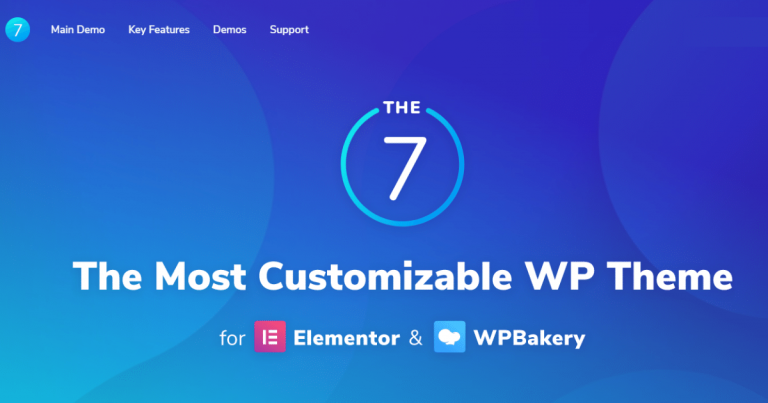 The 7 Theme free download-WPGenuine